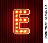 realistic retro gold lamp bulb... | Shutterstock .eps vector #565002115