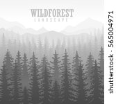 wild coniferous forest... | Shutterstock .eps vector #565004971