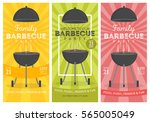 lovely vector barbecue party... | Shutterstock .eps vector #565005049