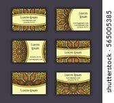 vector business card design... | Shutterstock .eps vector #565005385