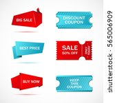 vector stickers  price tag ... | Shutterstock .eps vector #565006909