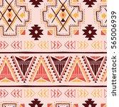vector colorful tribal ethnic... | Shutterstock .eps vector #565006939