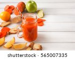 detox cleanse drink  vegetable...   Shutterstock . vector #565007335