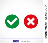 check mark and cross icons | Shutterstock .eps vector #565010014