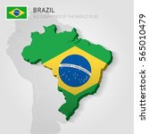 brazil painted with flag drawn... | Shutterstock .eps vector #565010479