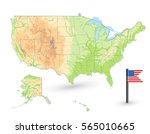 usa physical map isolated on... | Shutterstock .eps vector #565010665