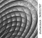 curvilinear decorative panel.... | Shutterstock . vector #565011787