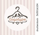 logo for baby clothes shop with ... | Shutterstock .eps vector #565016104