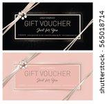gift premium certificate. gift... | Shutterstock .eps vector #565018714