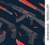 military and terrorist weapon... | Shutterstock .eps vector #565021159