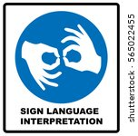sign language interpreting... | Shutterstock .eps vector #565022455