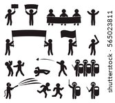 people icon set. demonstration  ... | Shutterstock .eps vector #565023811