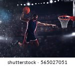 basket player throws the ball... | Shutterstock . vector #565027051