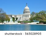 us capitol congress with... | Shutterstock . vector #565028905