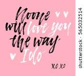 love lettering. hand drawn... | Shutterstock .eps vector #565032514