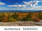 Small photo of Beacon Heights in the Fall Blue Ridge Mountains, Appalachian Mountains, North Carolina