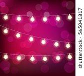 realistic st. valentine's... | Shutterstock . vector #565041817