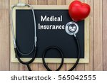 stethoscope  red heart and... | Shutterstock . vector #565042555