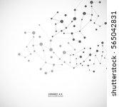 molecule structure background | Shutterstock .eps vector #565042831