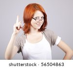 Young angry businesswomen in white with glasses. - stock photo