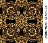 stylized golden stars ... | Shutterstock .eps vector #565048927