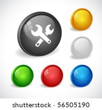 color 3d buttons for web. vector | Shutterstock .eps vector #56505190