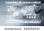 back view of businessman... | Shutterstock . vector #565056934