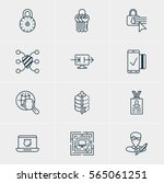 vector illustration of 12 data... | Shutterstock .eps vector #565061251