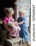 Two Little Farm Kids In...