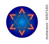 star of david on a blue...   Shutterstock .eps vector #565071301