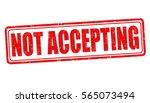 not accepting grunge rubber... | Shutterstock .eps vector #565073494