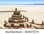 Beach Sand Castle Summer...
