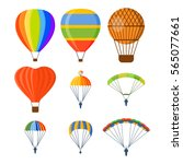 ballon aerostat transport... | Shutterstock .eps vector #565077661