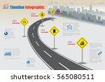 design template  city timeline... | Shutterstock .eps vector #565080511