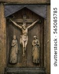 Crucifixion Of Christ Carved O...