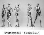 many fashion shiny female... | Shutterstock . vector #565088614