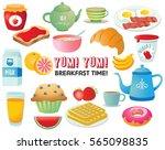 breakfast foods clip art set | Shutterstock .eps vector #565098835