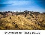 Mountain Ridge With Golden ...