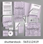 corporate identity template ... | Shutterstock .eps vector #565112419