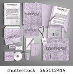 corporate identity template ...   Shutterstock .eps vector #565112419