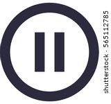 pause button vector icon | Shutterstock .eps vector #565112785