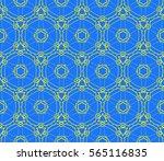 decorative floral ornament.... | Shutterstock .eps vector #565116835