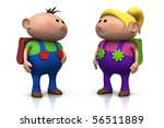 cute boy and girl with big... | Shutterstock . vector #56511889