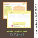 decorative recipe cards set ... | Shutterstock .eps vector #565123315