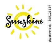 sunshine lettering   Shutterstock .eps vector #565125859