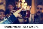 craft beer booze brew alcohol... | Shutterstock . vector #565125871