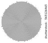 abstract black dot circle... | Shutterstock .eps vector #565126465