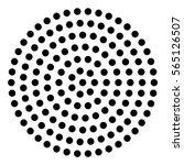 Abstract Black Dot Circle...