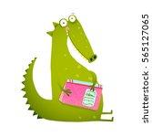 dragon or dinosaur cartoon... | Shutterstock . vector #565127065