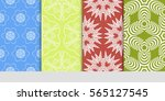 set of modern decorative floral ... | Shutterstock .eps vector #565127545